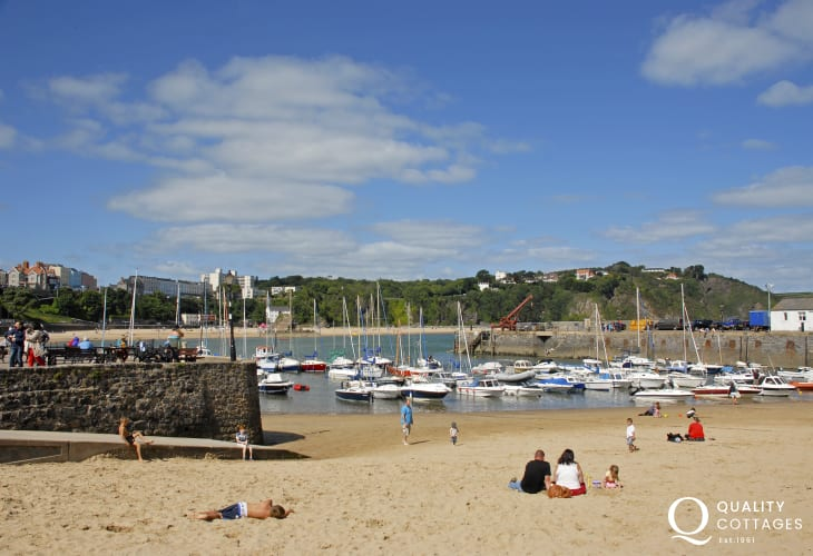 Take a day trip to the seaside resort of Tenby - lots of places to eat, art galleries, boutiques, ice cream parlours and beautiful Blue Flag beaches