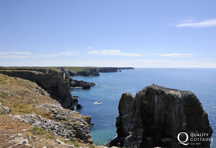 The Pembrokeshire Coast Path offers breathtaking coastal walking throughout the year