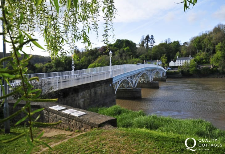 The Old Wye Bridge (Town Bridge )in Chepstow