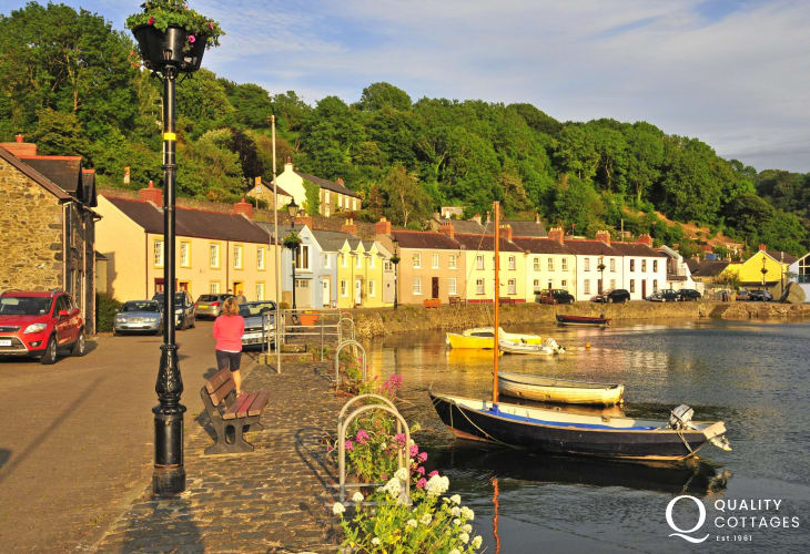 Lower Town Harbour, Fishguard - perfect for a stroll along the quayside