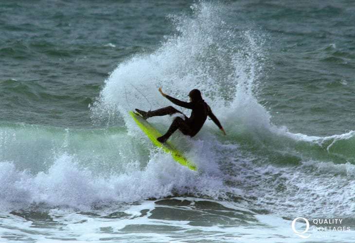 Newgale's Atlantic rollers offer thrilling surfing opportunities