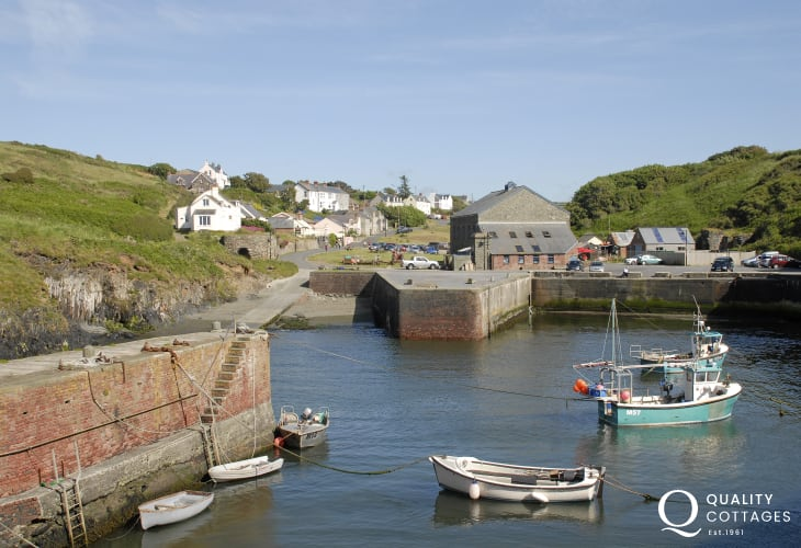 Porthgain - a picturesque fishing harbour and village also famed for 'The Sloop Inn', one of the best-known family friendly pubs in the area