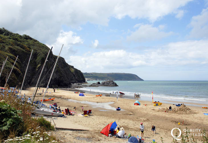 Tresaith, one of the best beaches on Cardigan Bay
