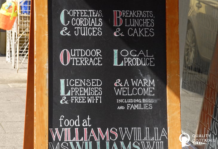 Try 'Williams', Main Street, Pembroke for freshly prepared meals and mouth watering cream teas!