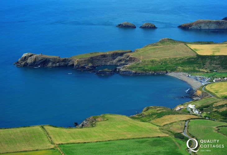 Abereiddy and the famous Blue Lagoon is a favourite spot for coasteering at entirely your own risk