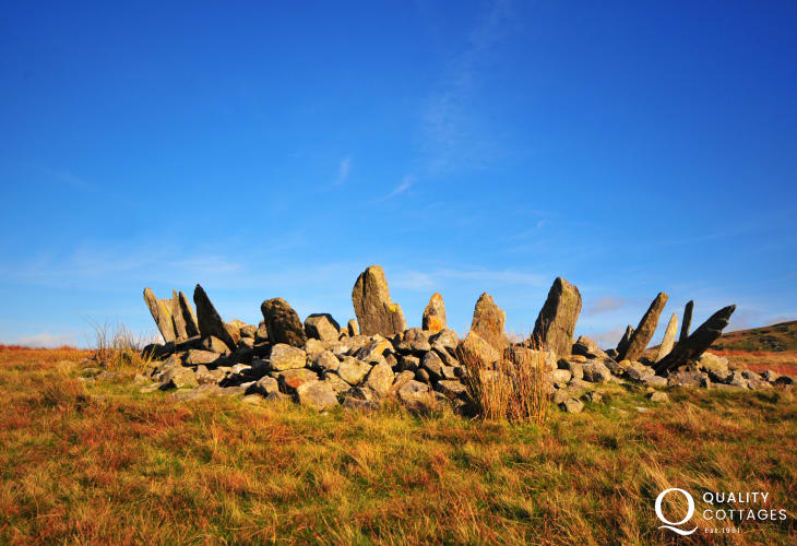 Bryn Cader Faner Ring Cairn has to be one of the most visually appealing stone circles in the British Isles. You can find it on the foot hills above Harlech