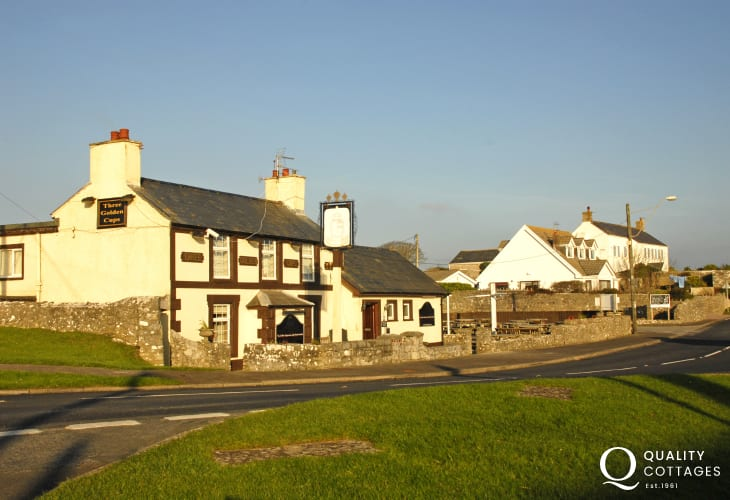 The Three Golden Cups -  the local pub just a short stroll away