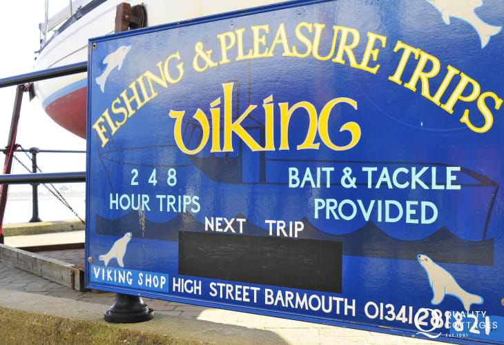 Fishing and pleasure trips leave from Barmouth Harbour