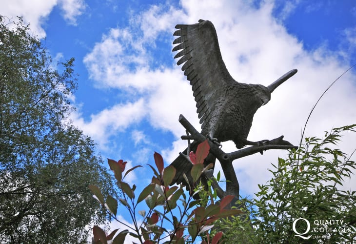 Red Kite sculpture in Llanwrtyd,the bird of prey for which the area is famed