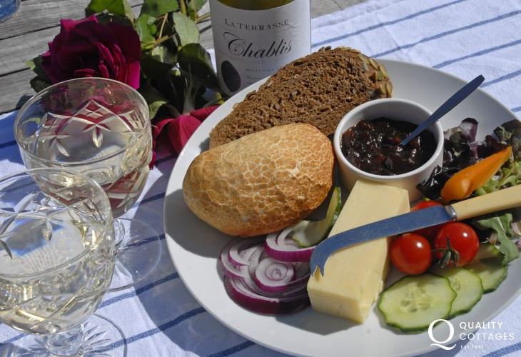 The Ship Inn, Tresaith overlooks the beach - a perfect spot to enjoy a glass of wine and good pub food