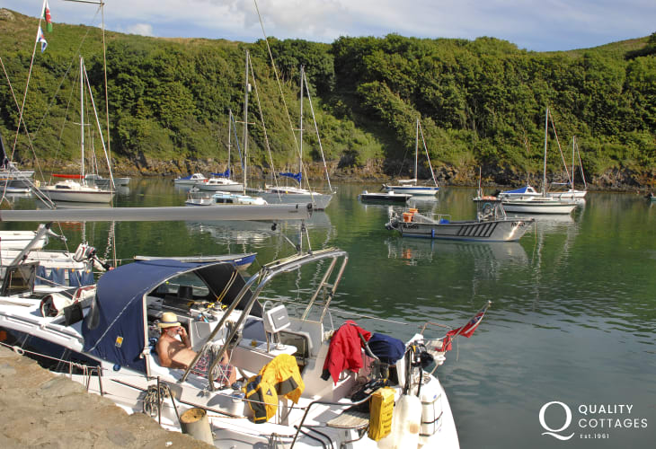 Solva Harbour is home to luxury yachts and boats of all shapes and sizes