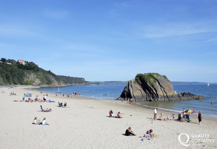 North Beach, Tenby - just one of 5 glorious sandy beaches