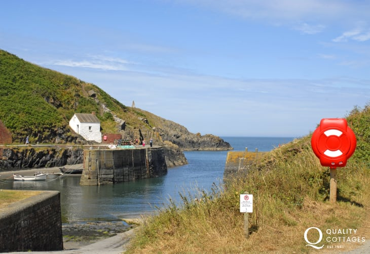 The charming little Harbour at Porthgain