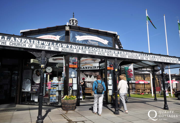 The station shop at Llanfair Pwll, well worth a visit, if only to try and read the name