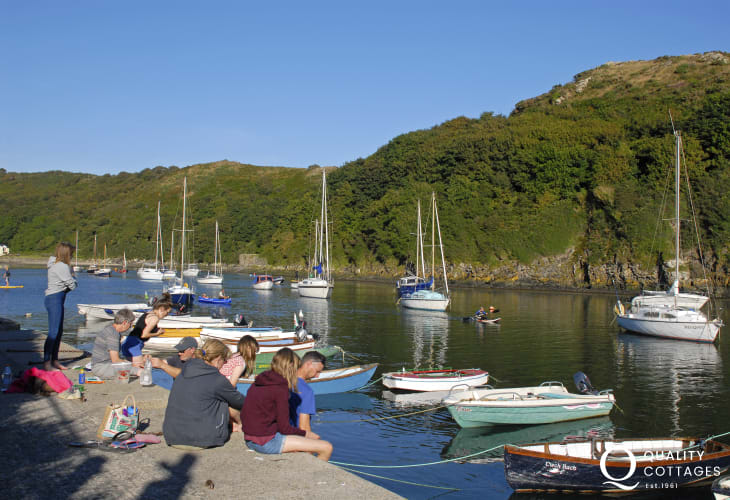 Solva is a pretty fishing village with a fjord type estuary filled with all kinds of boats during the summer months