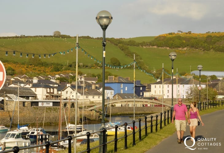 Aberaeron - one of the prettiest towns along the Welsh coast with Georgian style houses and plenty of interesting shops in which to browse