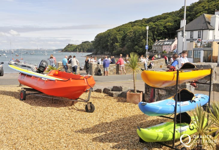 Dale - a popular seaside village with sailing club and award winning Griffin Inn serving good food, beer and wines