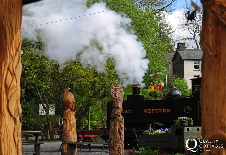 Magnificent steam train journey between Aberystwyth and Devils Bridge