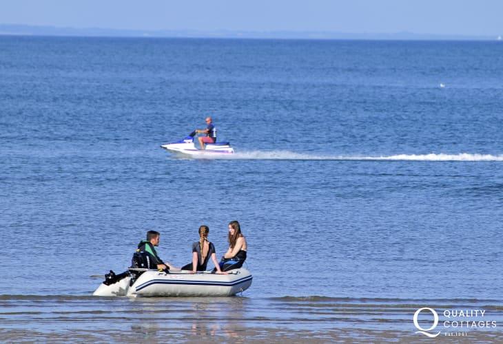 Fun sports in Rhosneigr seaside town