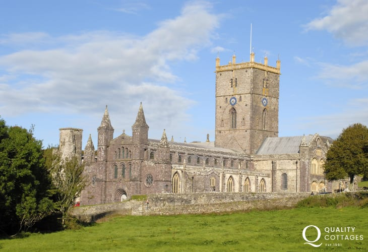 St Davids with its magnificent Cathedral and ruined Bishops Palace is Britain's smallest city