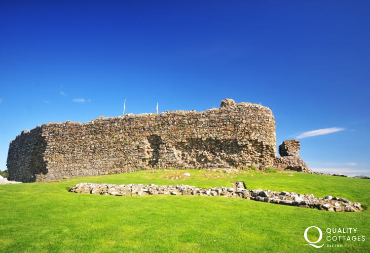 The ancient ruins of Criccieth Castle