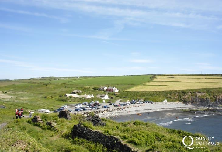Abereiddy is a 'blue' sand and shingle beach