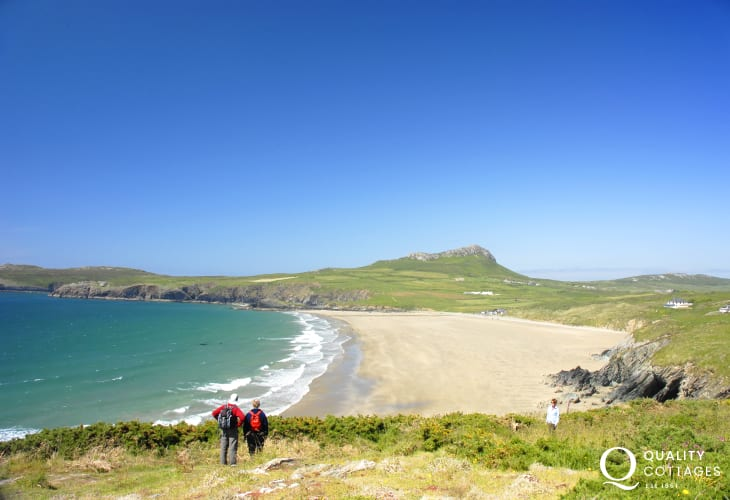 Whitesands Beach (Blue Flag) - glorious golden sands, excellent surf, popular with families and just a short drive away