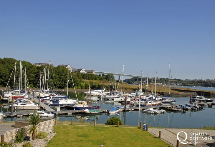 The Bar Restaurant at Neyland Marina over looks luxury yachts and the Haven - the perfect place to relax with friends