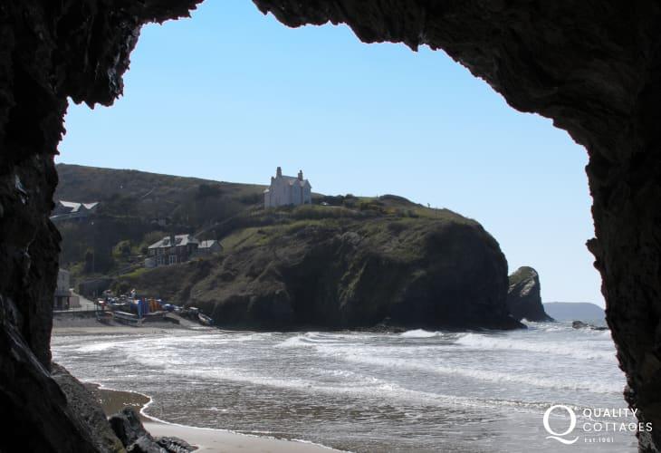A 'smugglers cave' at Llangrannog