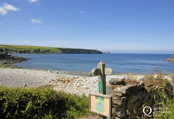 Aberbach and Abermawr are two of many beaches, coves and harbours between St Davids & Newport