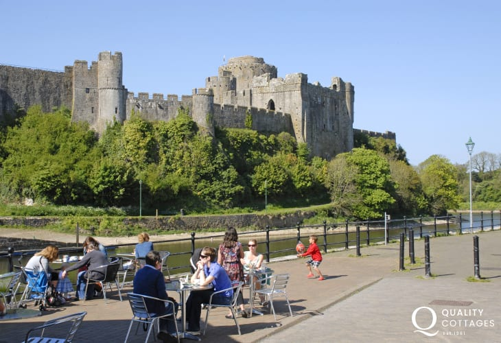 Pembroke Castle - birthplace of Henry VII and one of the finest medieval Castles in Wales