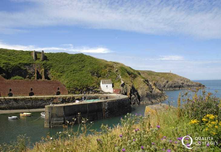 Porthgain Harbour - a picturesque sheltered little cove popular with rowers, walkers and tourists