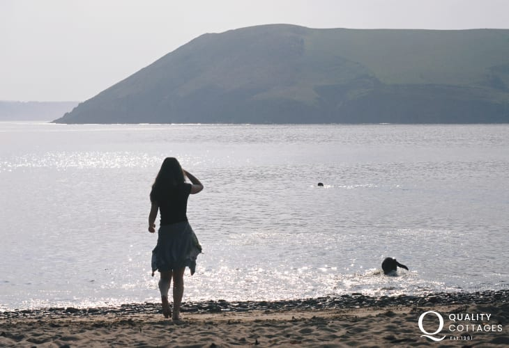 A quiet evening stroll at Manorbier