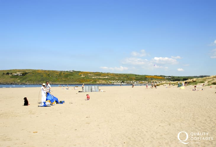 Poppit sands - half a mile of glorious beach where the Teifi River meets the sea