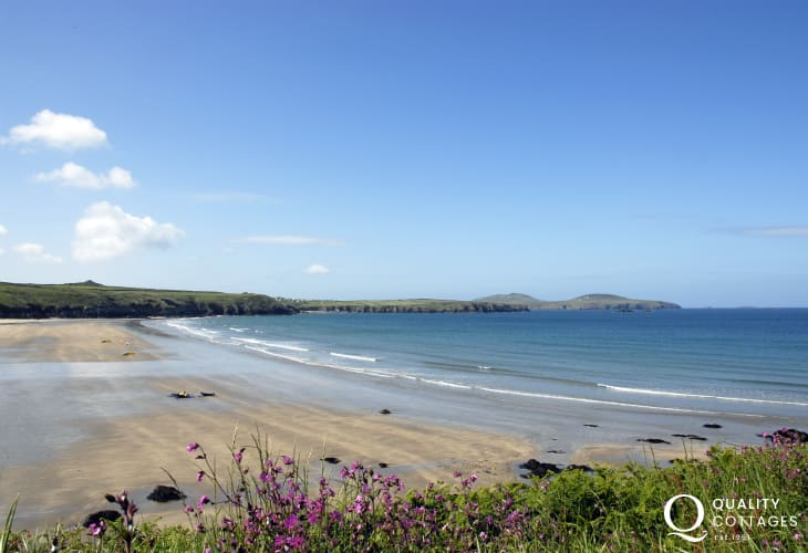 Whitesands Bay - popular with families and one of the best surfing beaches in Wales