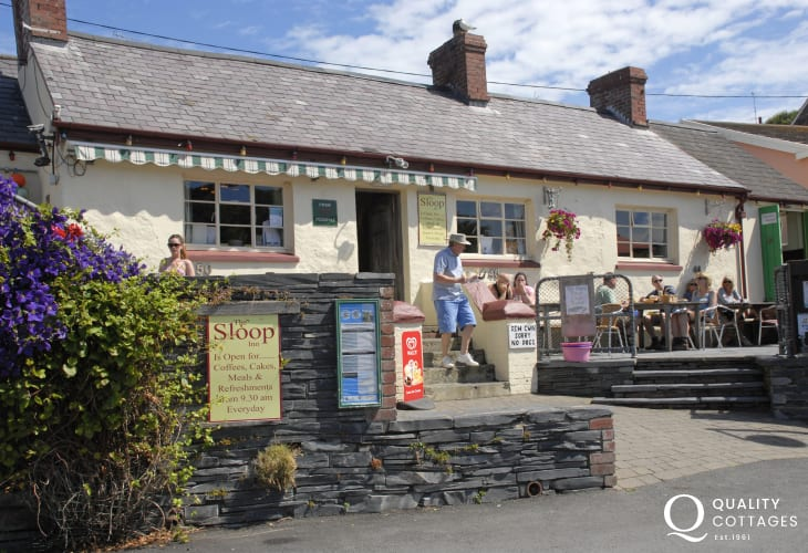 Porthgain has two galleries an excellent seafood bistro and the family friendly Sloop Inn