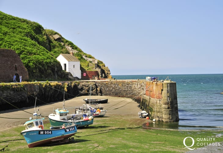 Porthgain Harbour - a picturesque sheltered cove popular with rowers, walkers and tourists