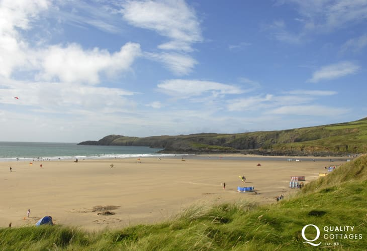 Whitesands Bay (Blue Flag) is one of the best beaches in Pembrokeshire - popular with families and water sport enthusiasts