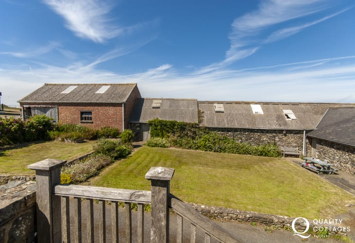 Coastal holiday apartment, Strumble Head with own gardens