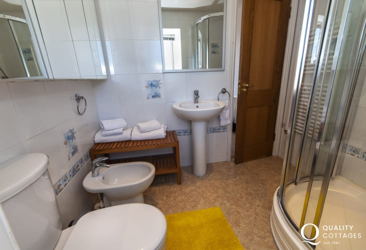 Strumble Head Pembrokeshire apartment - 1st floor shower room