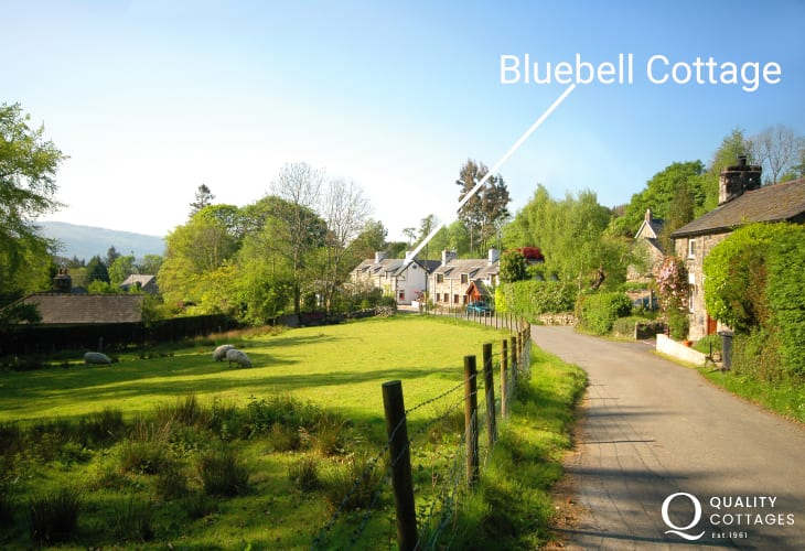 Bluebell Cottage nestled in a little rural hamlet
