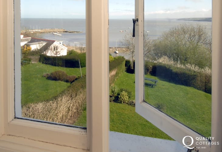 Lovely coastal views from the bedrooms at 'Seafields'