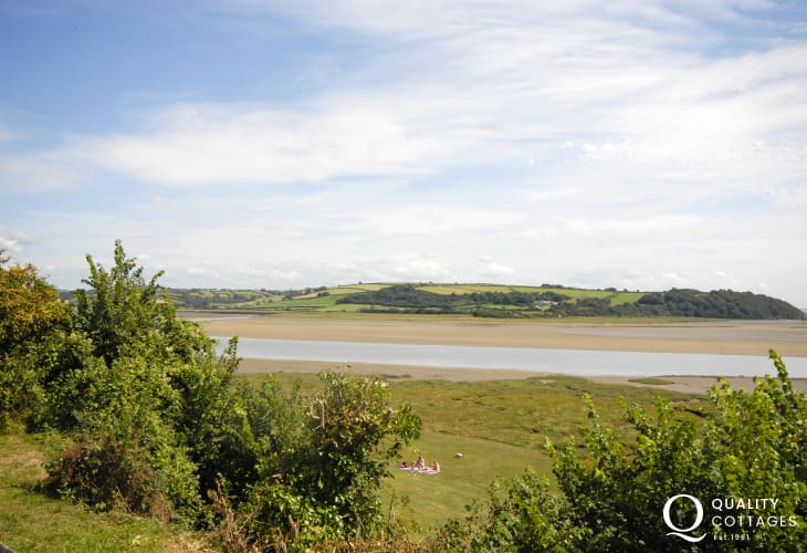Enjoy wonderful views over the River Taf Estuary from this unique location