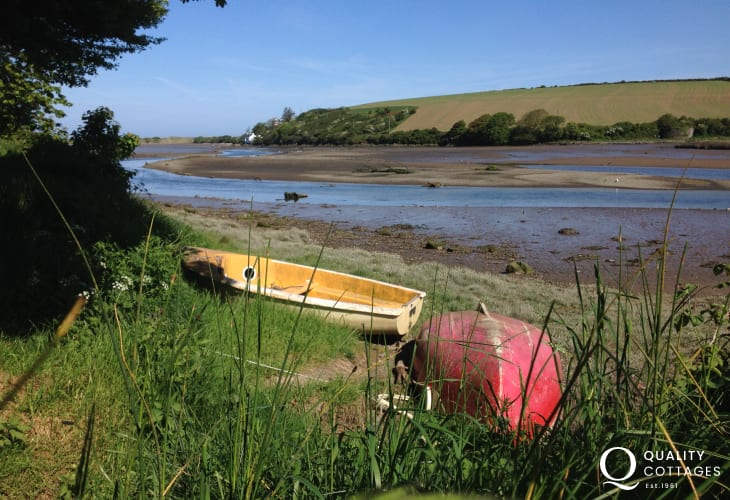 The Nevern Estuary is a good spot for bird watching - look out for swans, herons and kingfishers