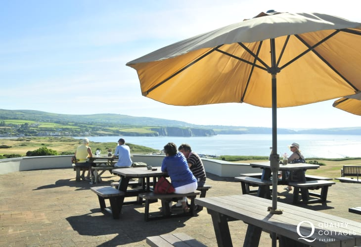 Newport Golf links is a spectacular 18 hole golf course  with a terrace overlooking the bay