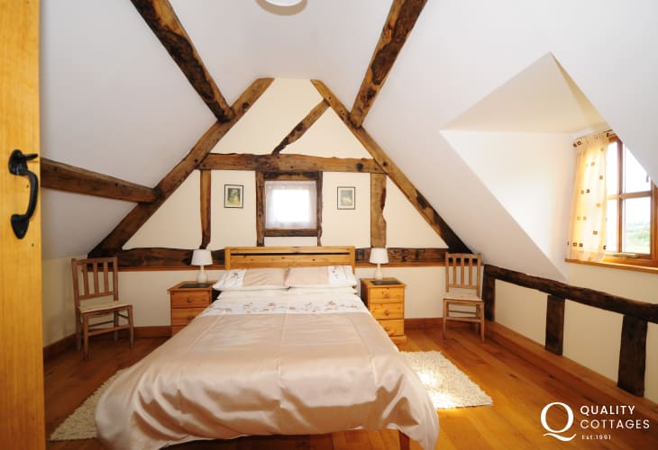 Master bedroom of Welsh border country