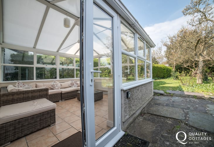 Criccieth holiday house - conservatory