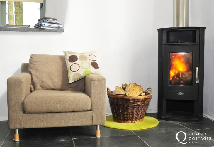 Holiday copttage Harlech - Log Burner