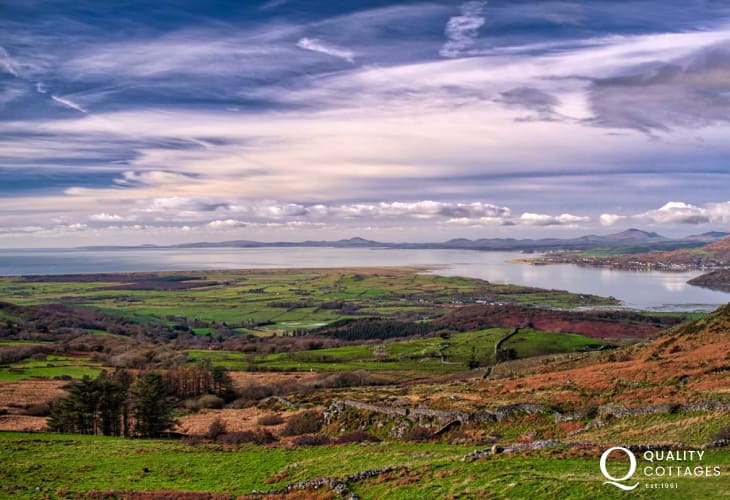 Sweeping views across the whole of the Llyn Peninsula
