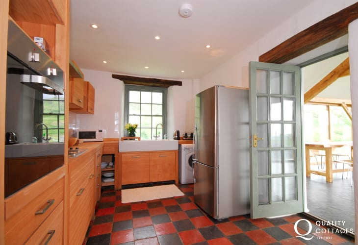 Kitchen at Harlech holiday home
